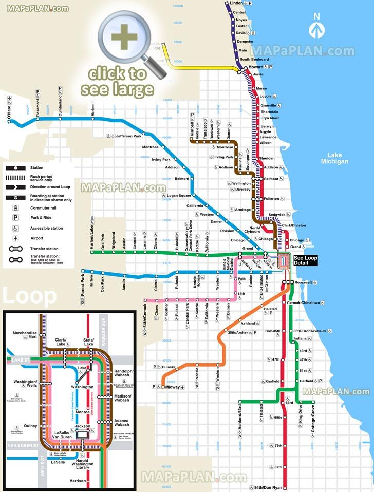 L Subway Map.El L Train Subway Metro Tube Underground Blue Red Brown Pink Orange