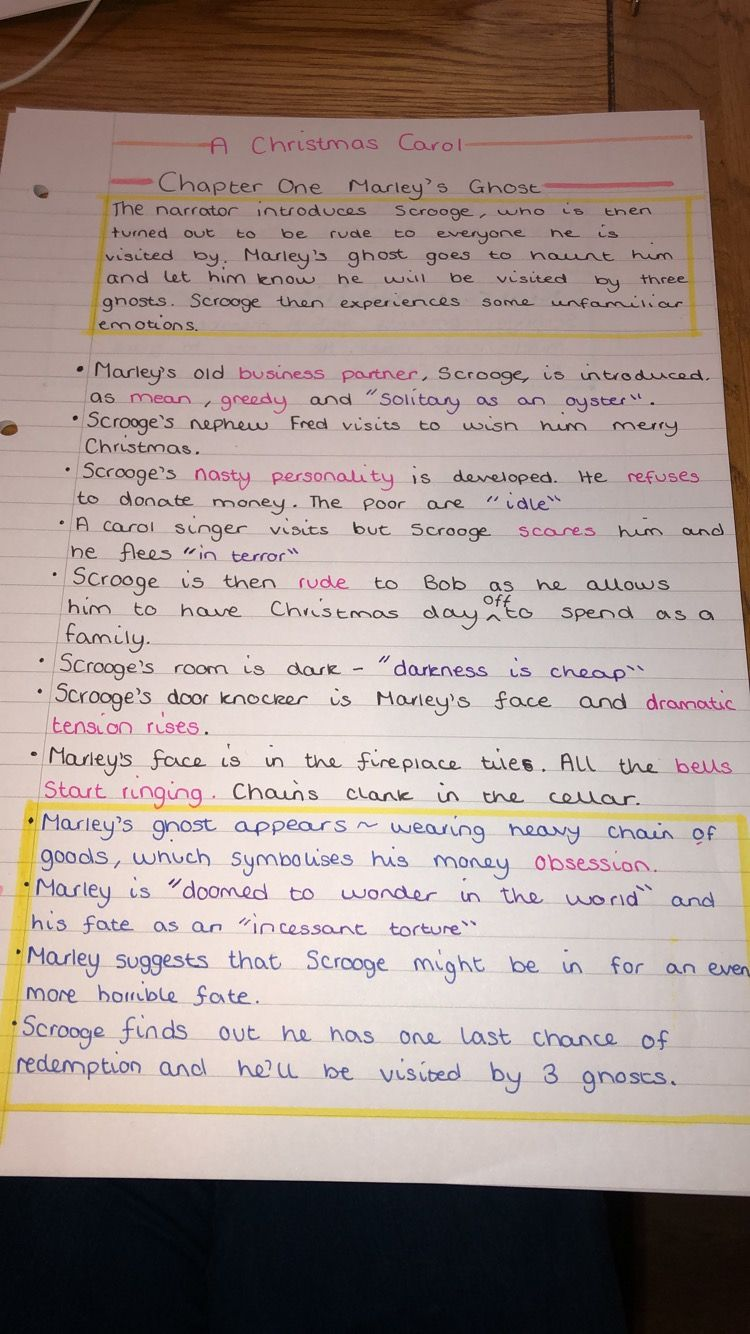 Pin by Ann on handwritting & note taking & study | A christmas carol revision, Christmas carol ...