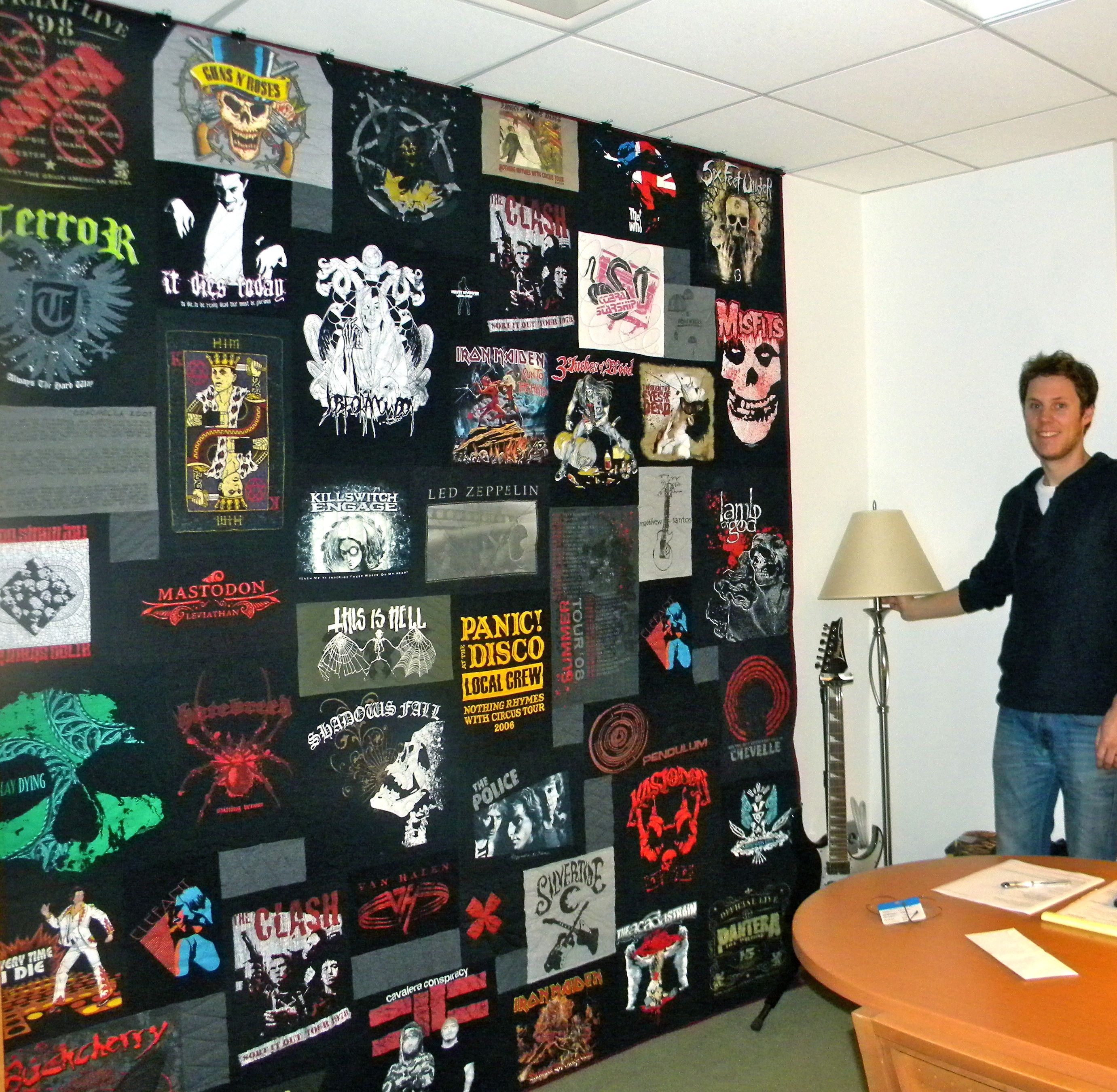 Black quilted t shirt - Rock N Roll T Shirt Quilt