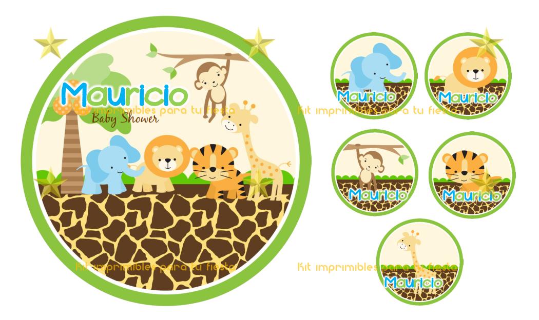 Kit Imprimible Safari Animalitos De La Selva! a $ 39.99.Juegos y ...