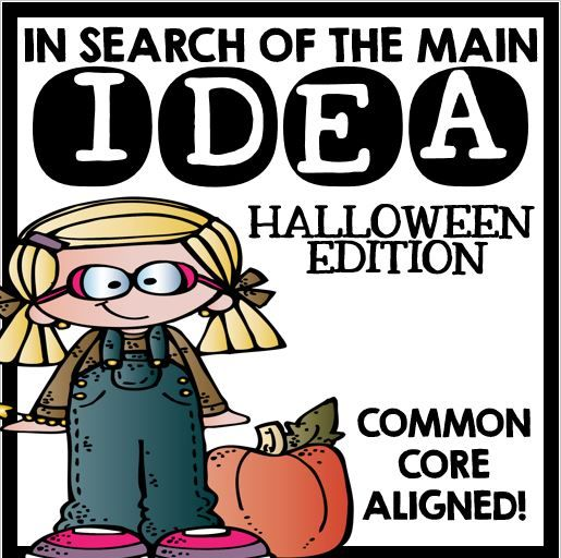 Main Idea Halloween On Tpt Main Idea Main Idea
