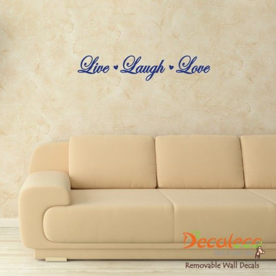 Live Laugh Love Wall Quote (Choose from 5 Fonts) - This short ...