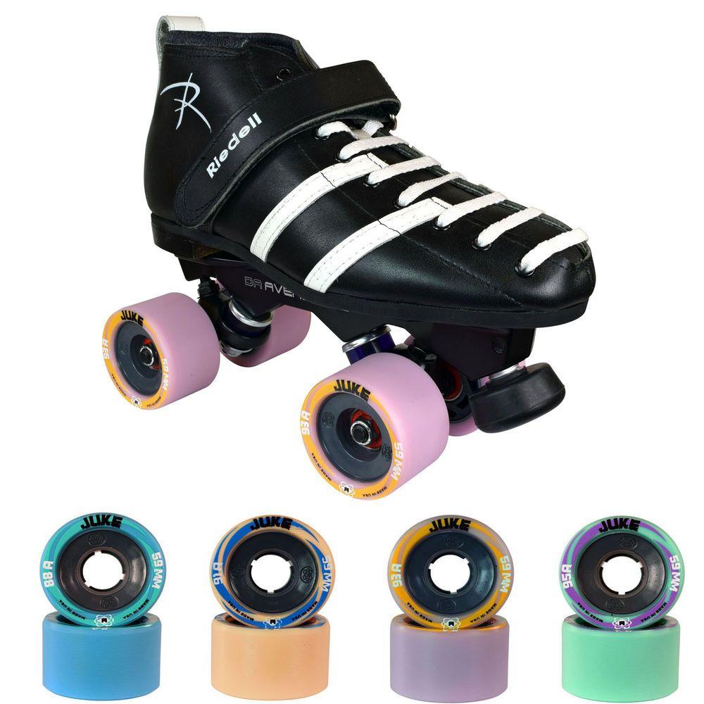 Roller skates for plus size - 265 Avenger Juke Roller Derby Speed Skates Men Size 4 13 Riedell