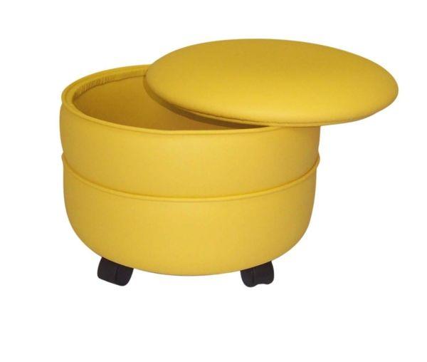 le pouf avec rangement pouf jaune et rangement. Black Bedroom Furniture Sets. Home Design Ideas