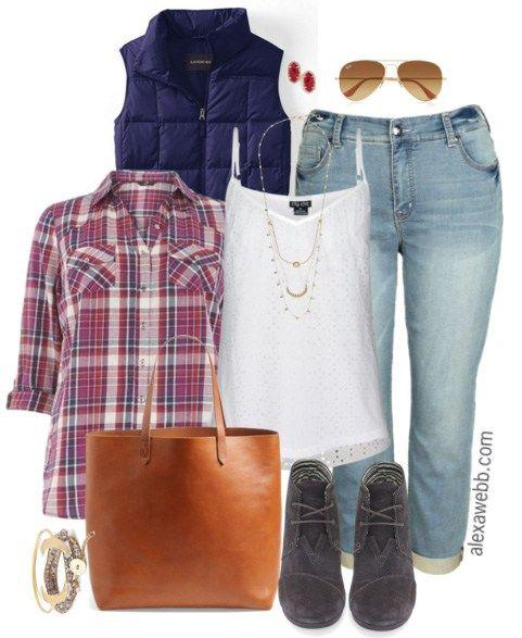 c4783a778c912 Plus Size Boyfriend Jeans Outfit - Plus Size Fashion for Women - Alexa Webb  - alexawebb.com  alexawebb
