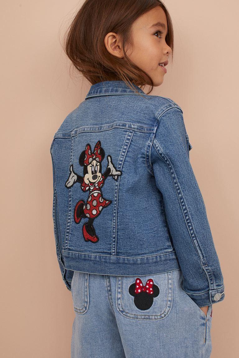 Denim Jacket With Applique Denim Blue Minnie Mouse Kids H M Us Denim Jacket Fashion Kids Disney Outfits [ 1152 x 768 Pixel ]