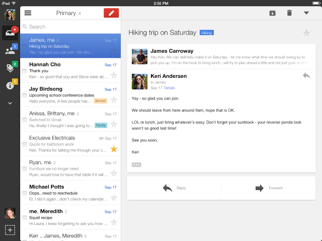 Google Updates Gmail For iOS App, Offers Full Screen