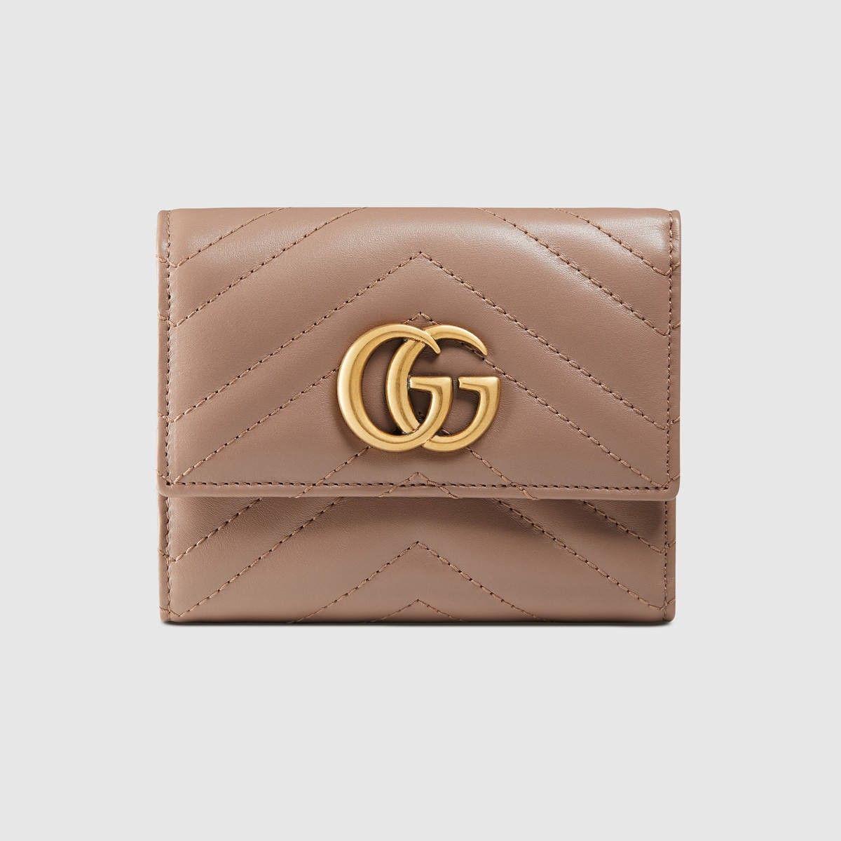 bcf424f887c1 GUCCI Gg Marmont Matelassé Wallet - Pink Matelassé Leather. #gucci #all