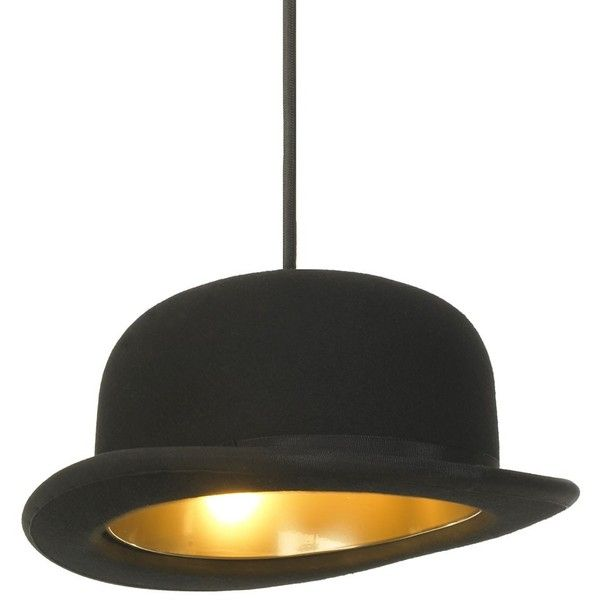 Innermost Jeeves Pendant ($285) ❤ liked on Polyvore featuring home, lighting, ceiling lights, black, hat lights, wire lights, wire lamp, black lamp and black lights