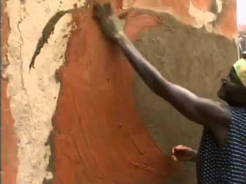Fassade gestalten - afrikanische Frauen bemalen ihre Häuser!
