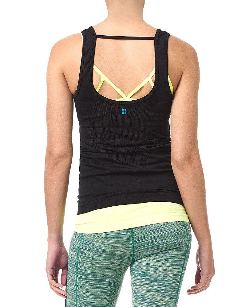 Sweaty Betty Guptasana Yoga Vest in Black, £55 Tank man