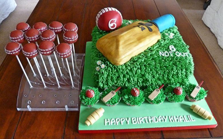 Eat the cake cricket birthday cake cricket theme cake