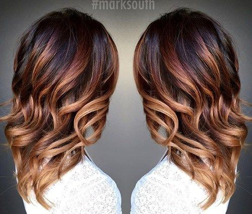 20 cute fall hair colors and highlights ideas caramel ombre ombre highlights and dark brown - Ombre hair caramel miel ...