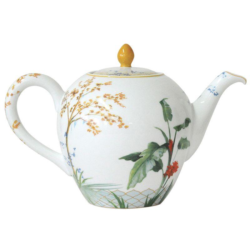 China Tea Pot 12 Cups Of The Collection Tropiques Bernardaud Tea Pots Tea Pots Vintage Porcelain