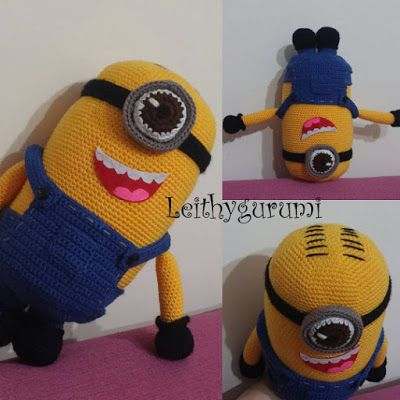 Leithygurumi: Amigurumi Minion Stuart from Despicable Me English ...