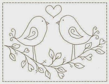 El taller de andrea dibujos para bordar bordados - Dibujos navidenos para bordar ...