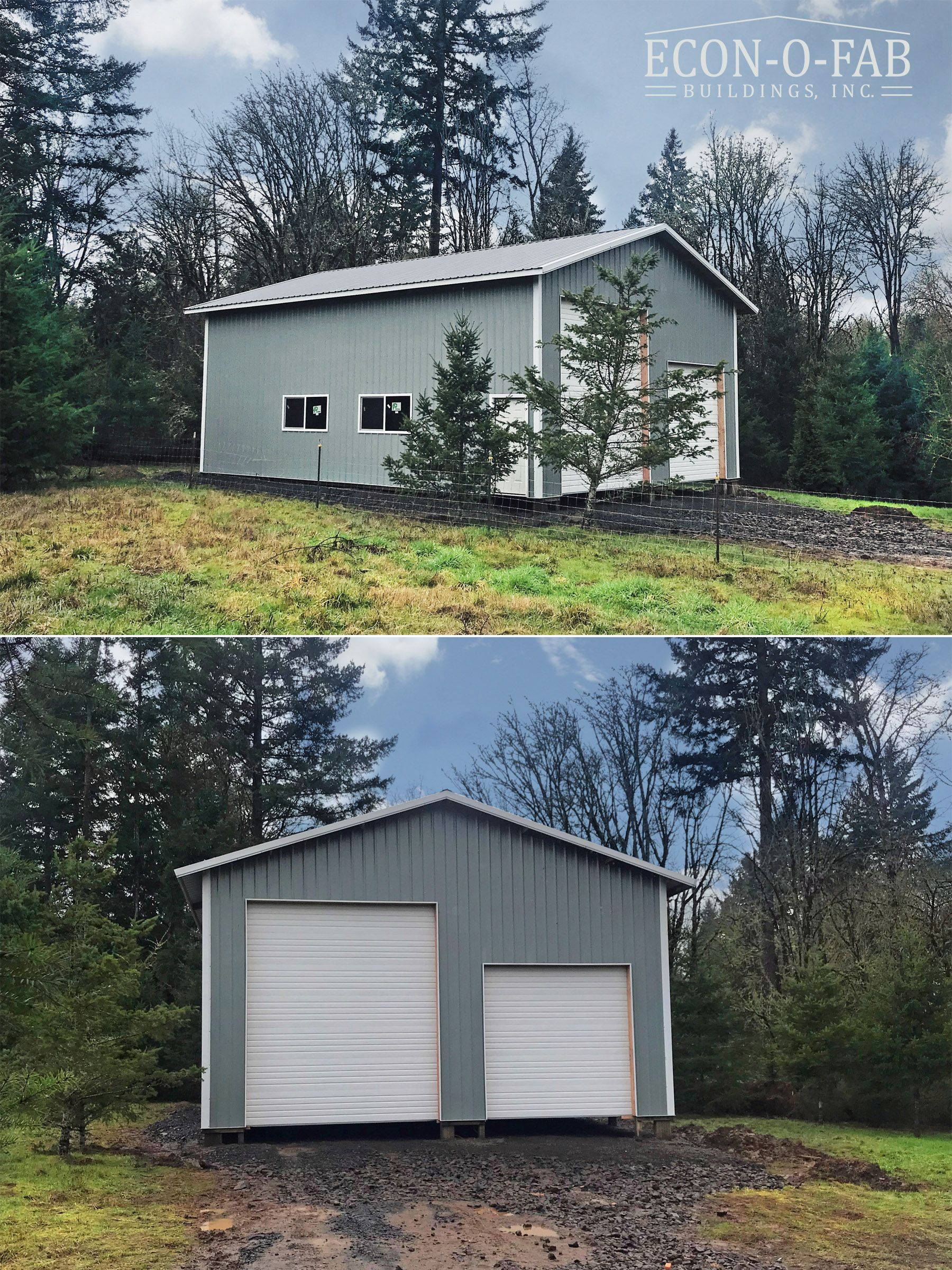 30 X 40 X 16 Pole Building In 2020 Pole Buildings Pole Barn Garage Metal Buildings