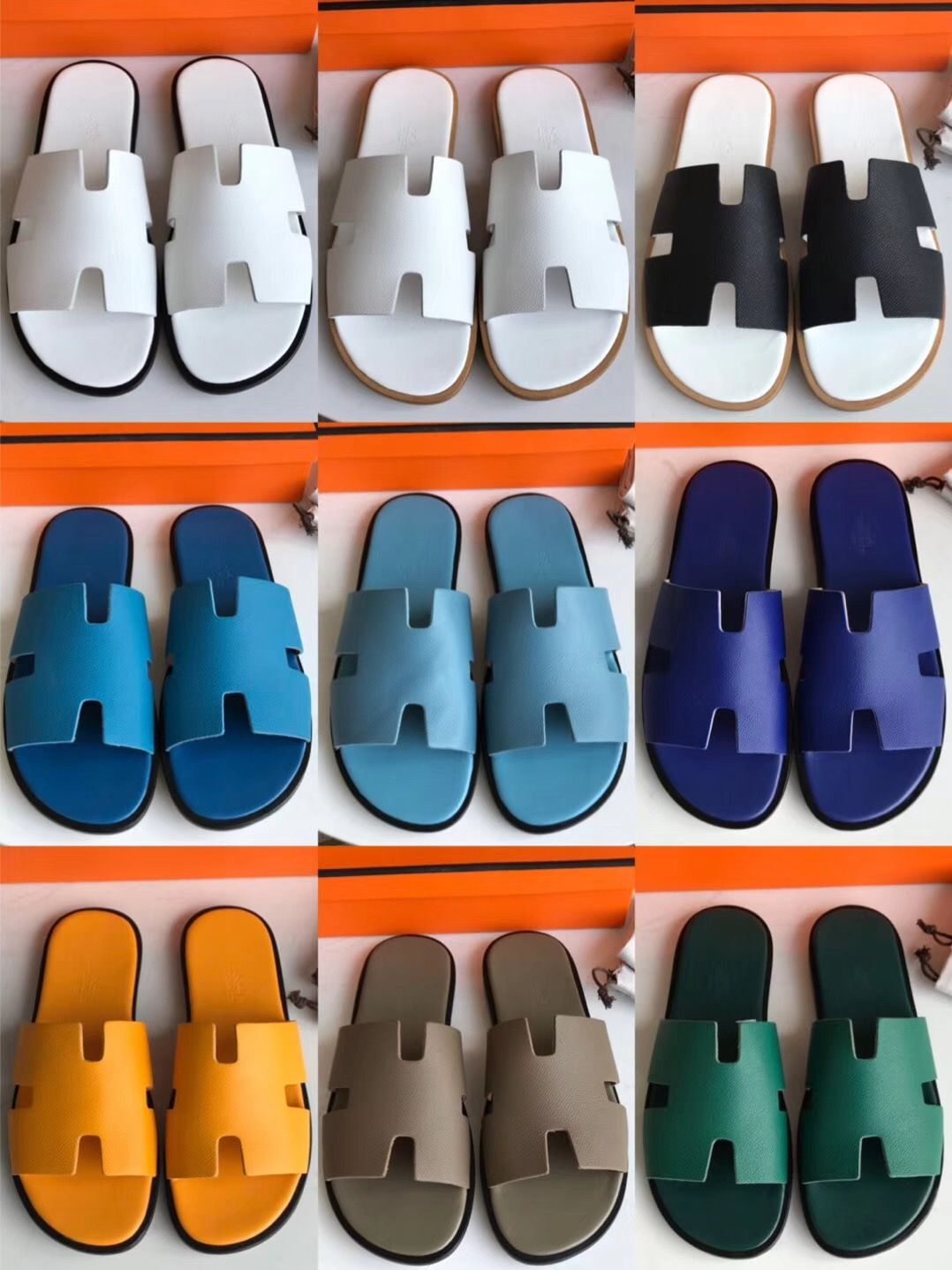 Hermes man slippers casual slides high quality version