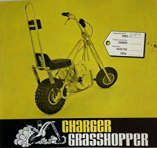 Charger Grasshopper Minibike Mini Bike Motocross Bikes Vintage Ads
