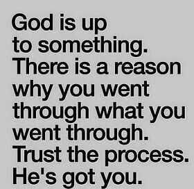 God is up to something