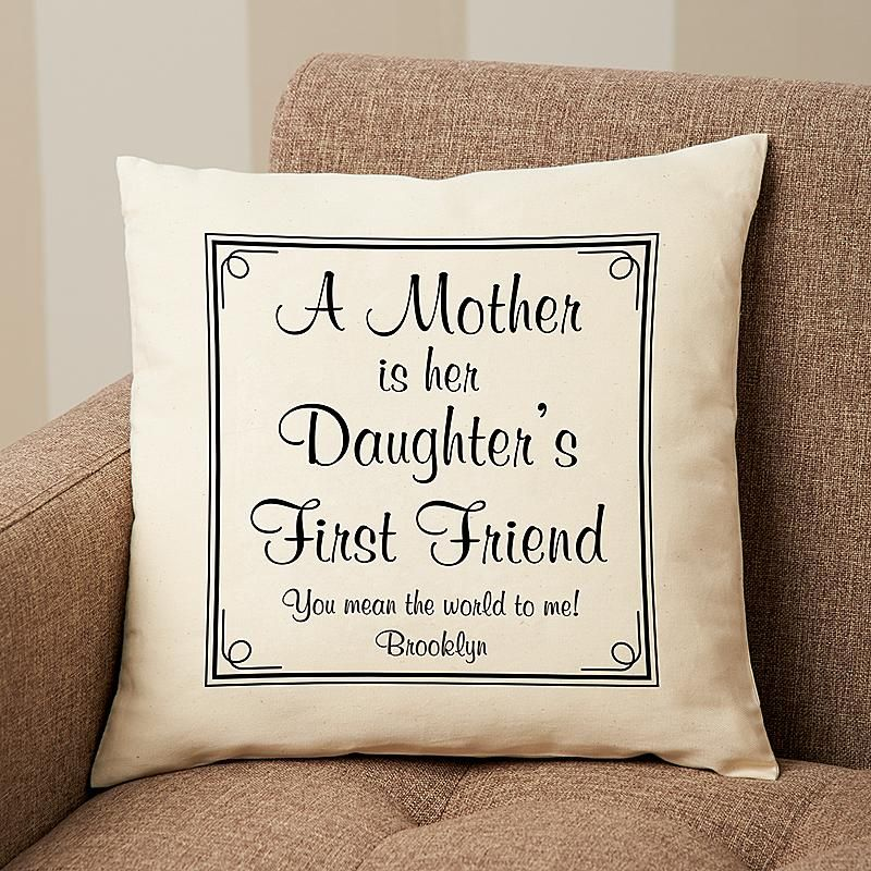 First Memories Throw Pillow for Mom | Throw pillows and Cricut