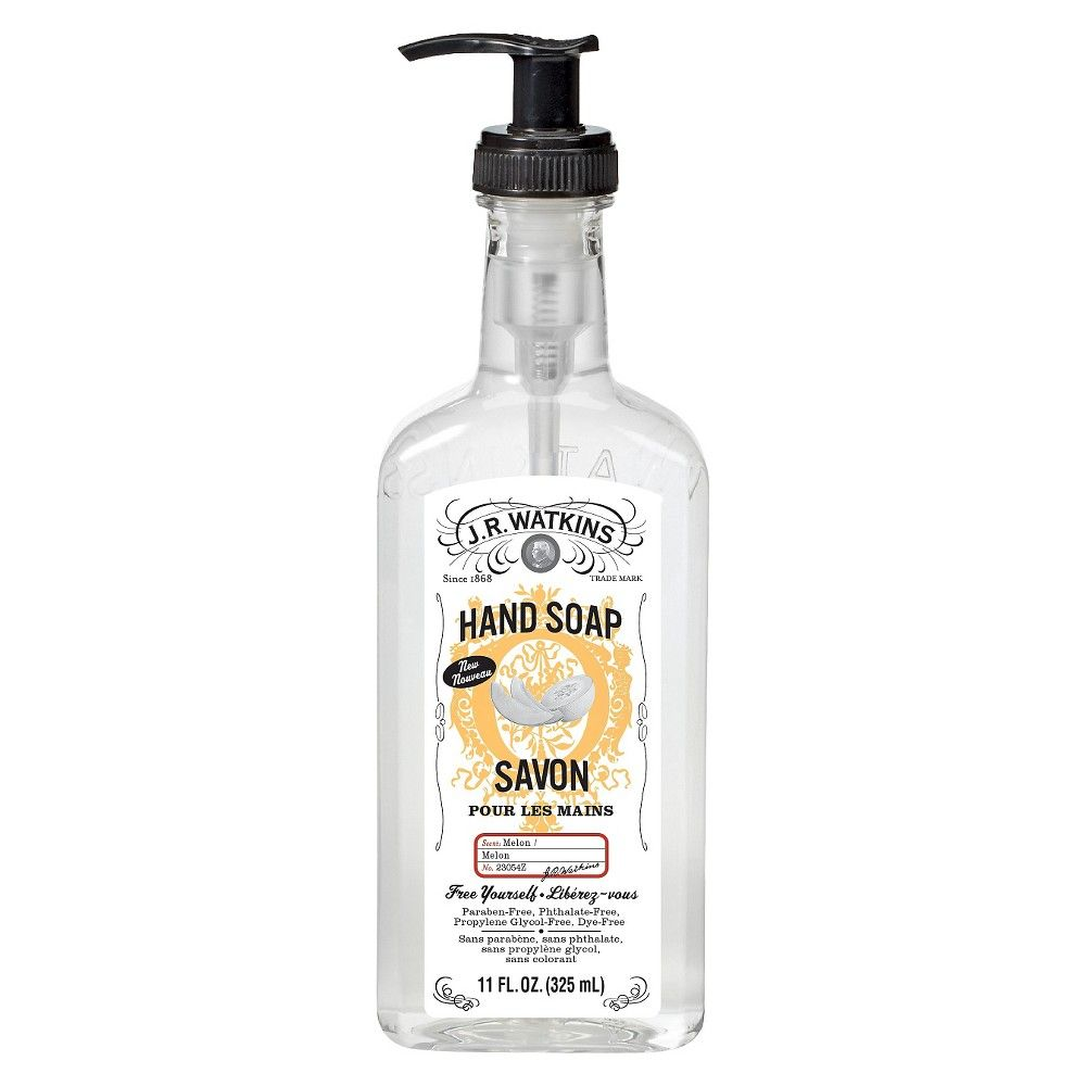 J R Watkins Melon Hand Soap 11oz Products Soap Liquid Hand Soap Body Cleanser