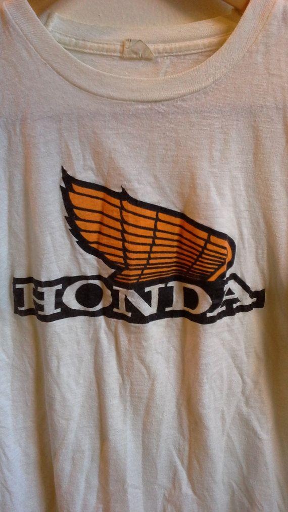 Vintage Honda Motorcycle Tee Shirt Design Pinterest Tee Shirts