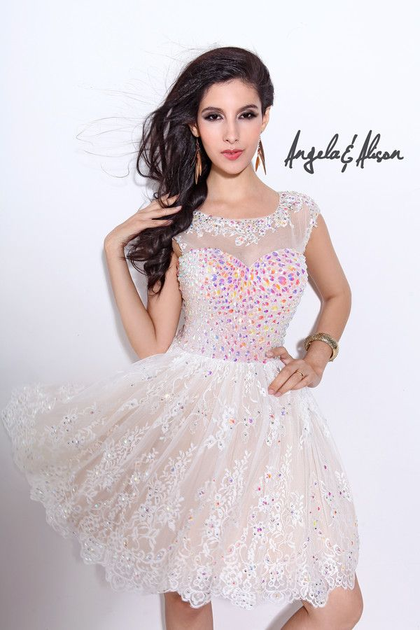 short white sparkly 2014 prom dress from AE dresses | All things ...
