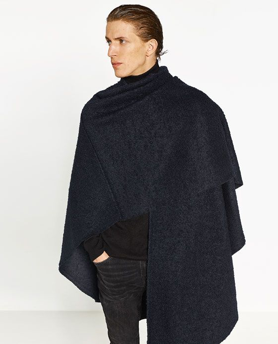 image 3 de poncho type cape de zara bal poussiere pinterest manteau vetements et cape noire. Black Bedroom Furniture Sets. Home Design Ideas