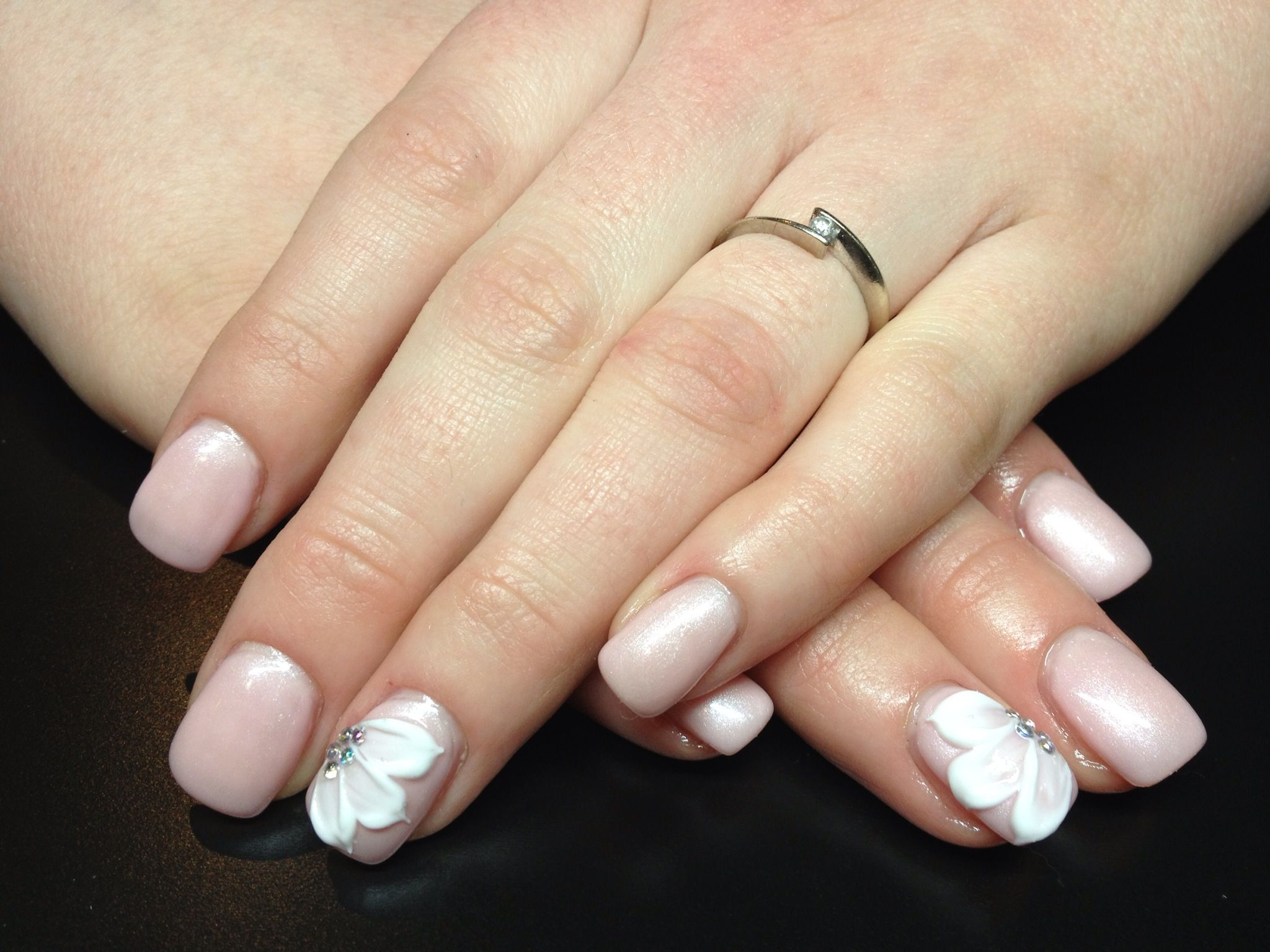 Gel nail 3d flower nails pinterest ongles and pink nails gel nail 3d flower izmirmasajfo