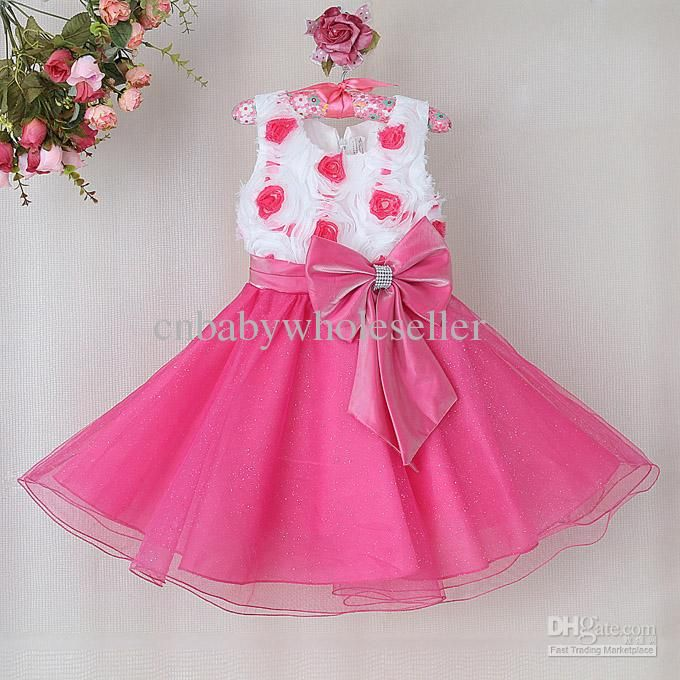 White Children Dress Tutu / Kids Bridal Dresses/kids Party Wear ...