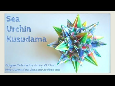 Photo of How to Fold: Sea Urchin Kusudama – Origami Ball – Spiky Flower Ball – Paper Crafts – Summer Crafts