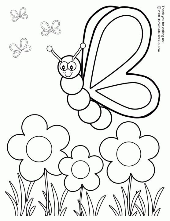 Printable Spring Coloring Pages | Fabric postcards | Pinterest ...