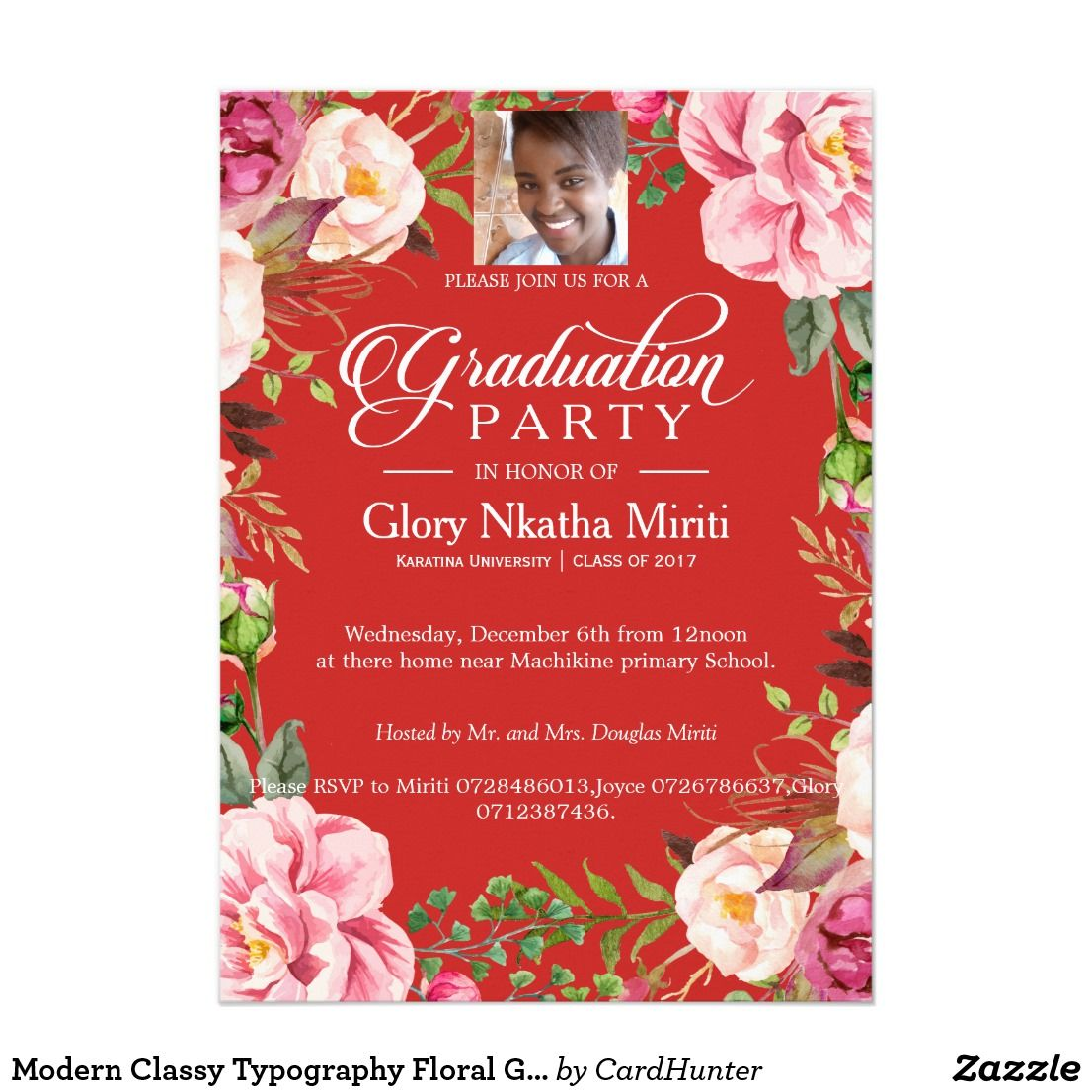 create your own invitation  zazzle  graduation party