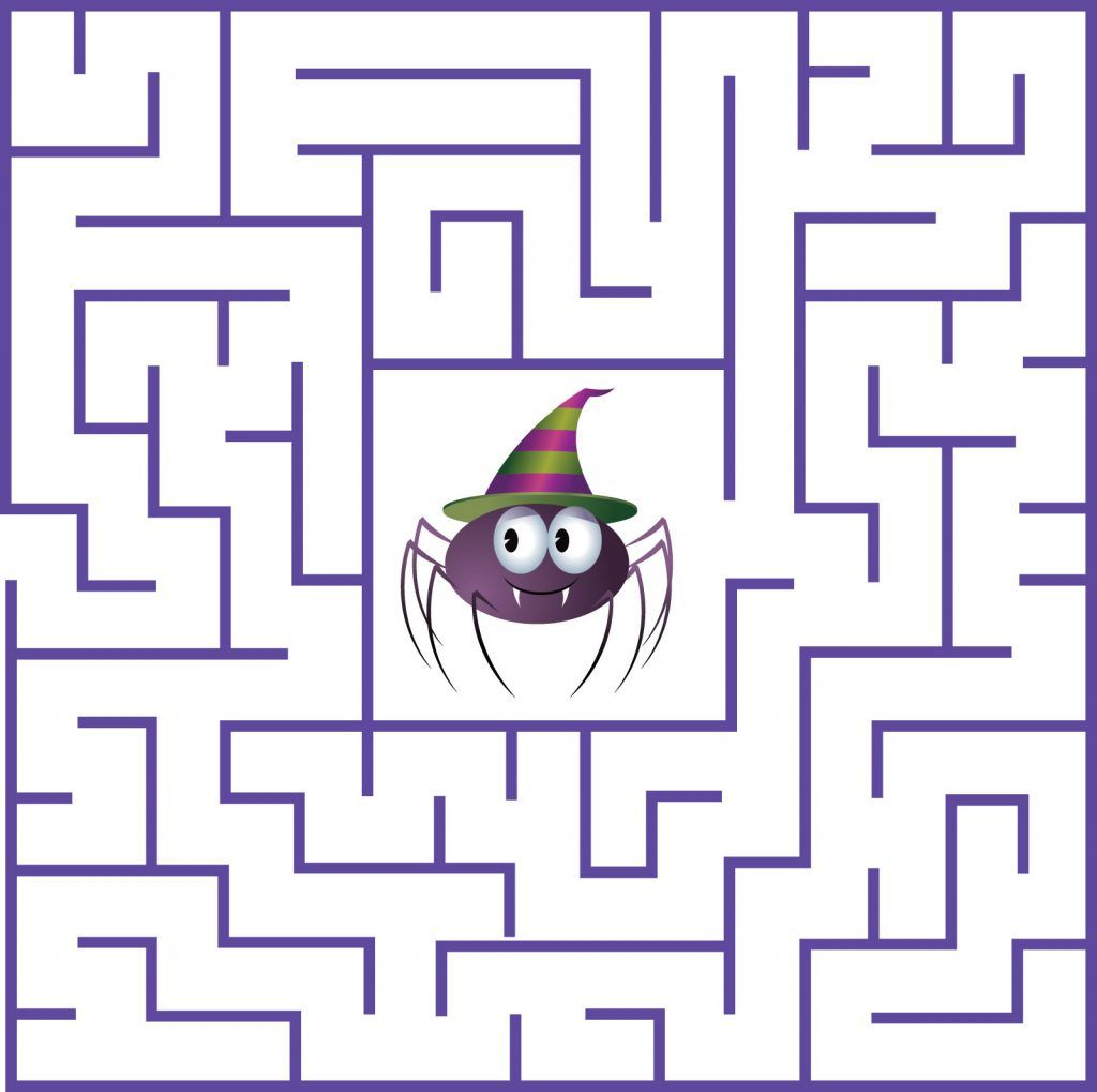 Halloween Maze Printable Worksheets