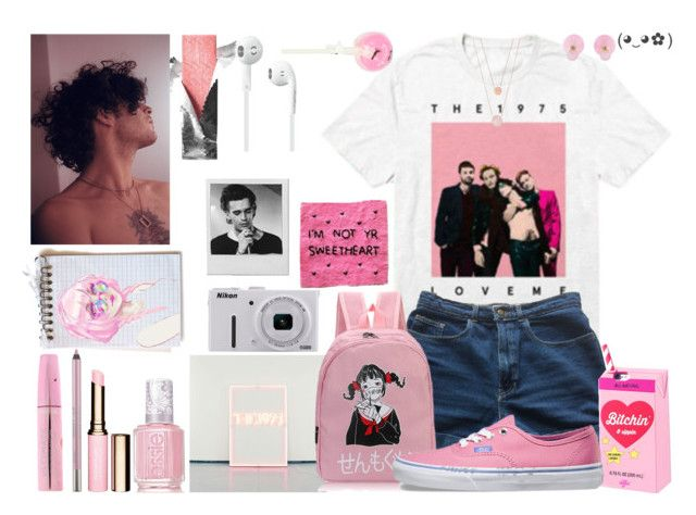 """""""// I know the sound of your heart //"""" by panic1atthefroot ❤ liked on Polyvore featuring American Apparel, Valfré, Vans, Essie, Clarins, Urban Decay, claire's, Nikon, Michael Kors and Christian Dior"""