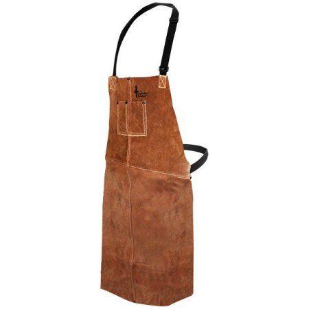 Bob Dale 60-1-536 Welding Apron Leather Bib Apron 24x36 Brown (Pack ...