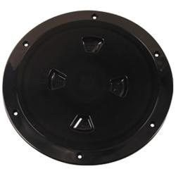 "Beckson 8"" Smooth Center Screw-Out Deck Plate - Black"