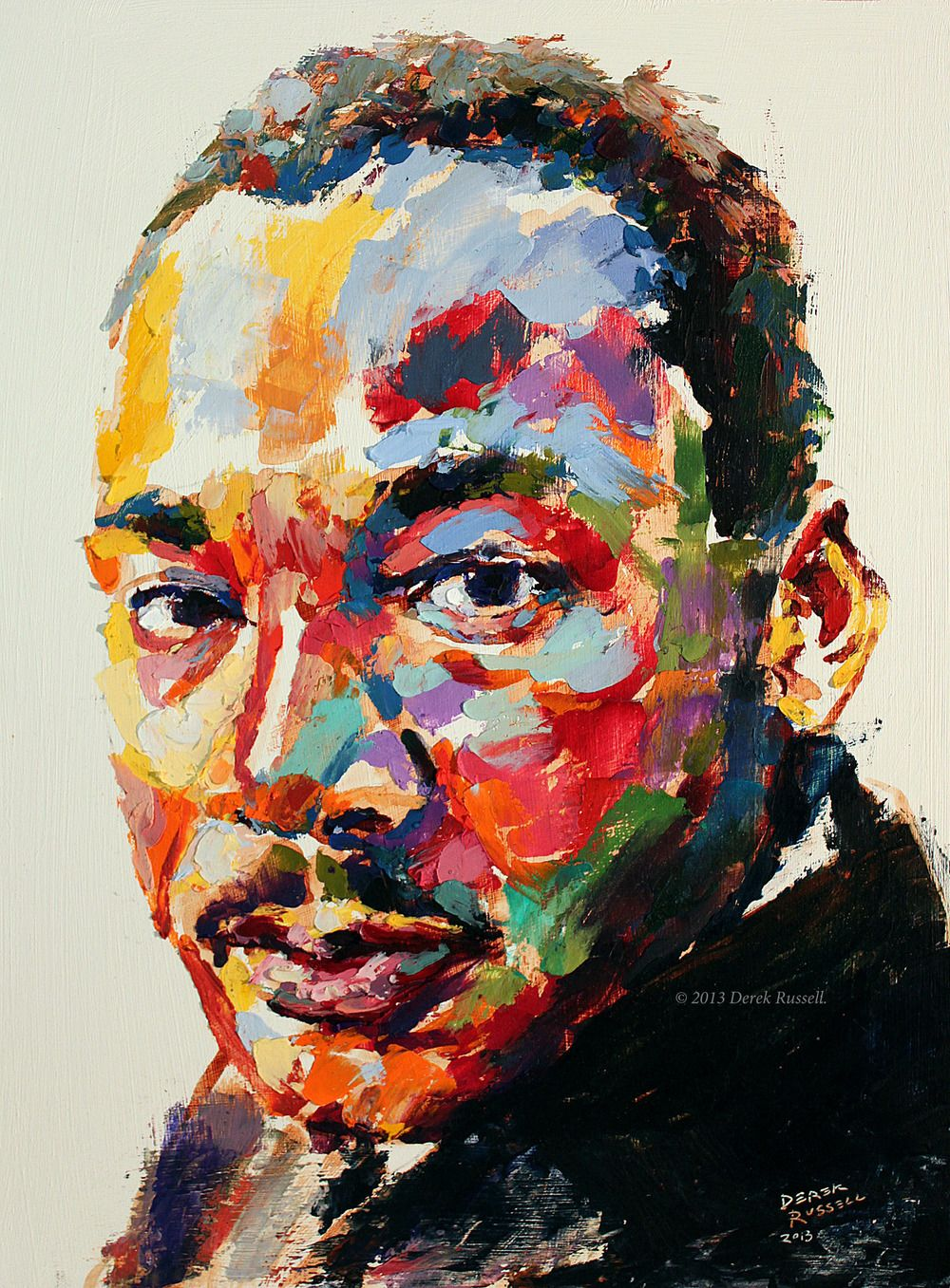 Bookmarks to color of dr king - Martin Luther King Jr Original Oil Painting