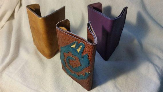 Portefeuilles compact en cuir par AtelierQTanne sur Etsy