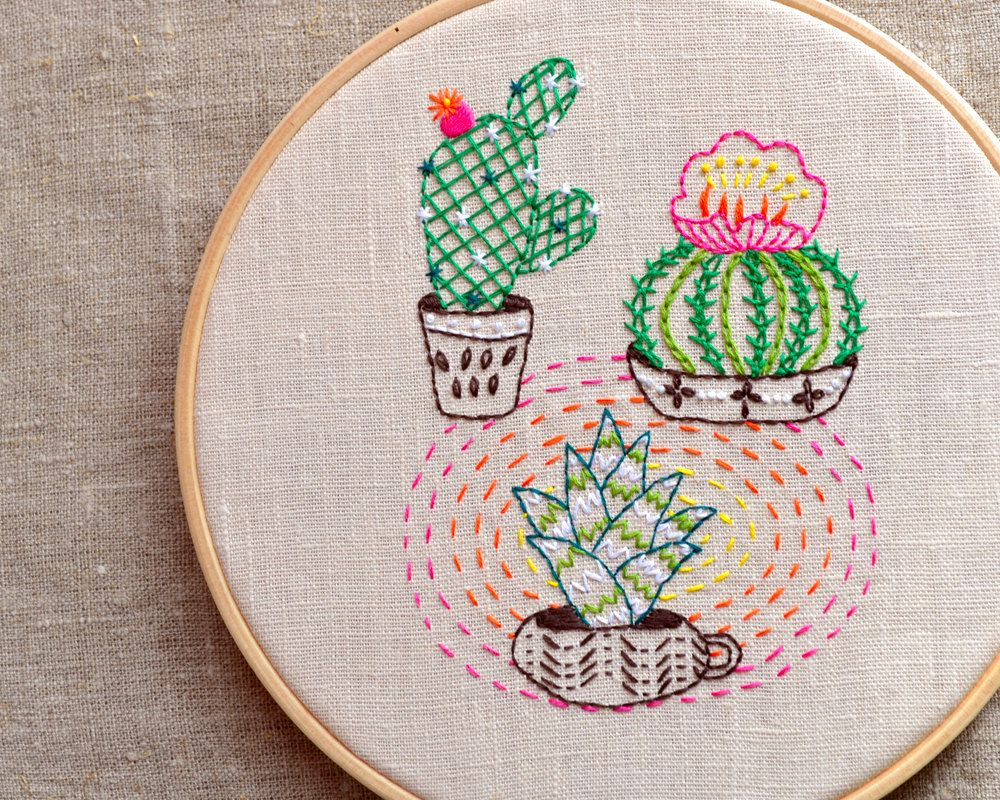 Modern hand embroidery patterns cactus by naneehandembroidery modern hand embroidery patterns cactus by naneehandembroidery bankloansurffo Gallery
