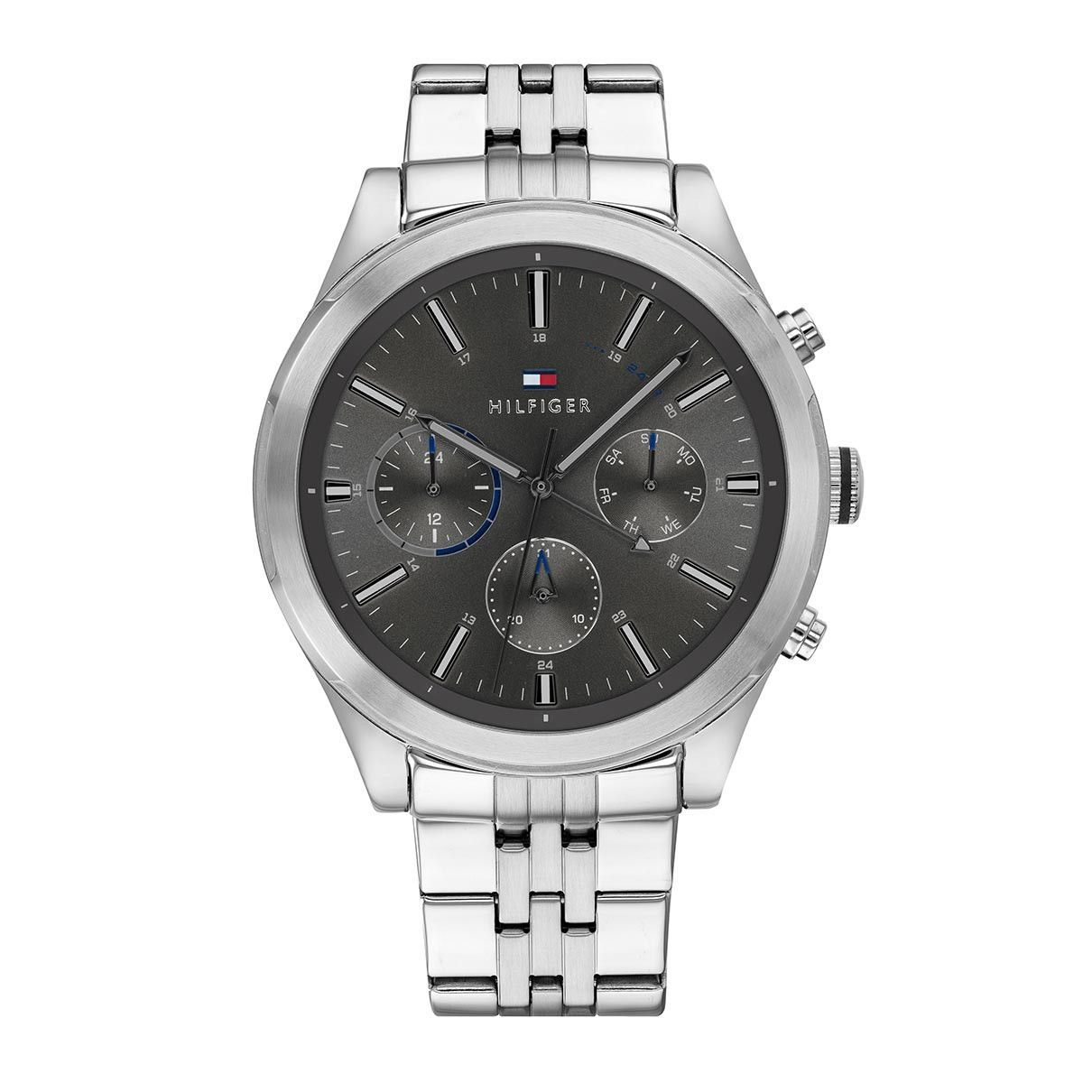 Tommy Hilfiger Men Multifunctional Watch Ashton Silver Uhr Uhr Uhren Fossil Uhr Damenuh In 2020 Stainless Steel Bracelet Men Stainless Steel Bracelet Bracelet Watch