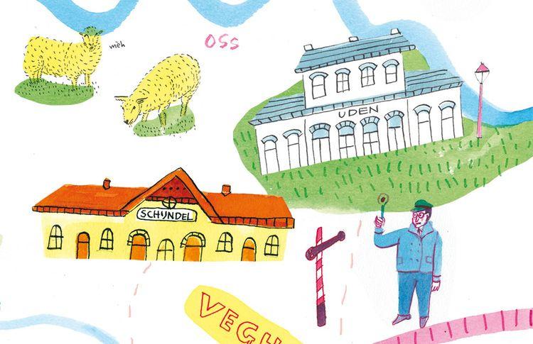 Spread Duits lijntje for MEST Magazine, by Marjolein Schalk.