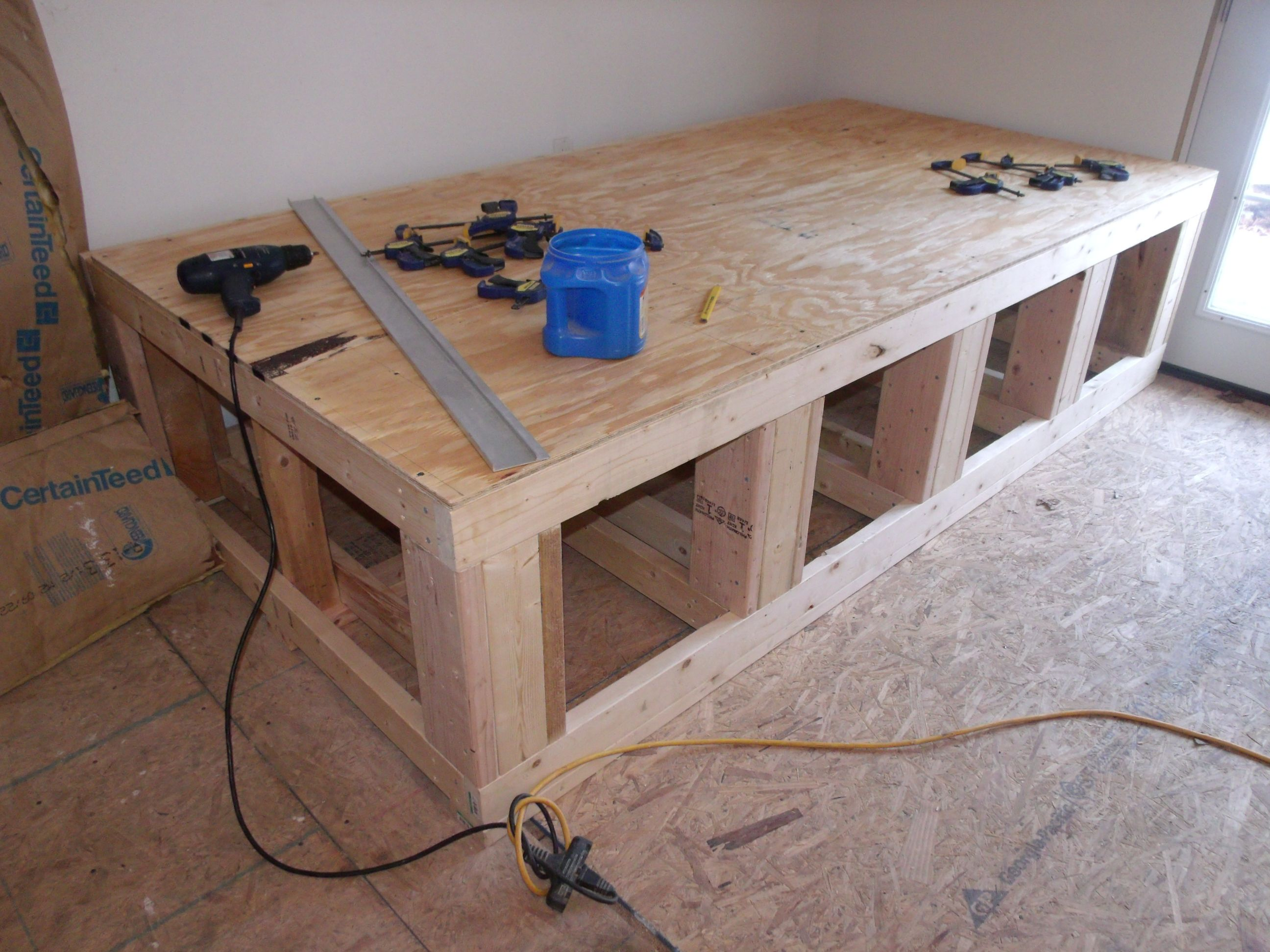 The building of my diy custom aquarium stand for a custom for Plywood fish tank