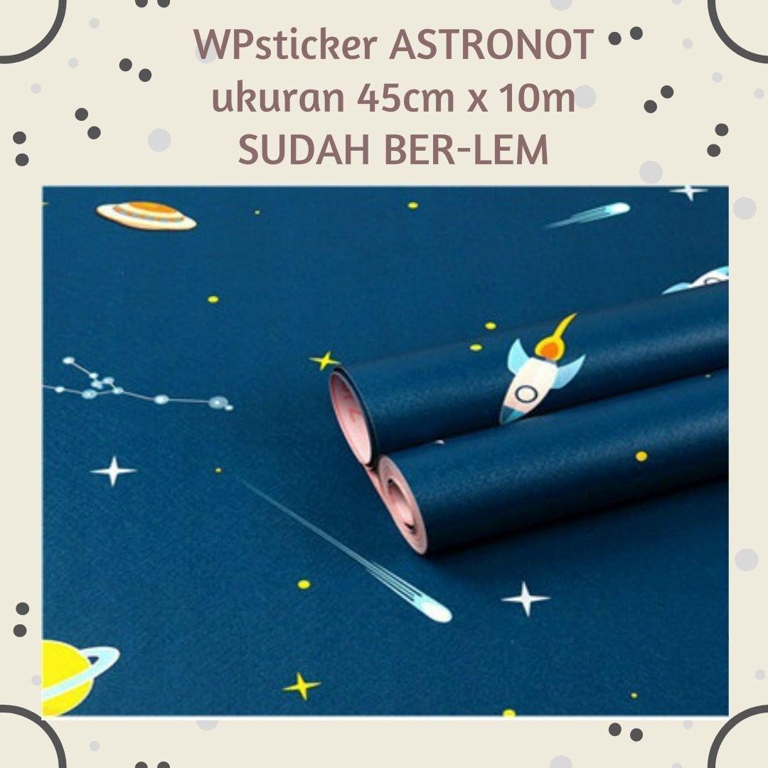 Wallpaper Sticker Kode Astronot Sudah Ber Lem Ukuran