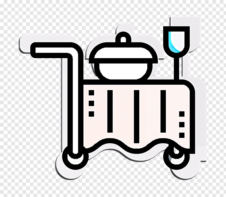 Hotel Icon Room Service Icon Hotel Services Icon White Text Line Line Art Coloring Book Logo Fre Coloring Books Comic Book Drawing Mandala Coloring Books