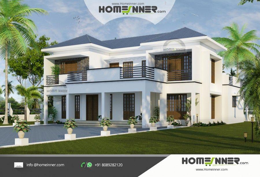 Modern luxury villa kerala house design in sqft also home designs rh pinterest