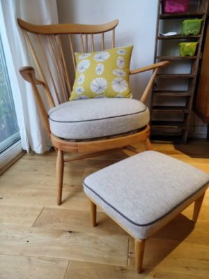 Ercol Goldsmith Fireside Chair Is Recovered In Chiang Mai