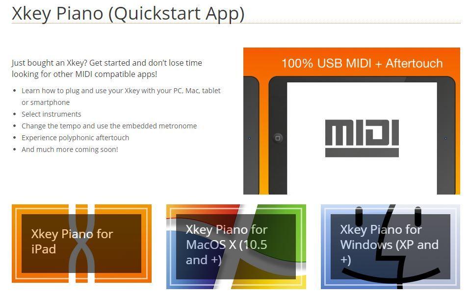 Free Xkey Piano software for Windwos, Mac OS, iOS. Piano