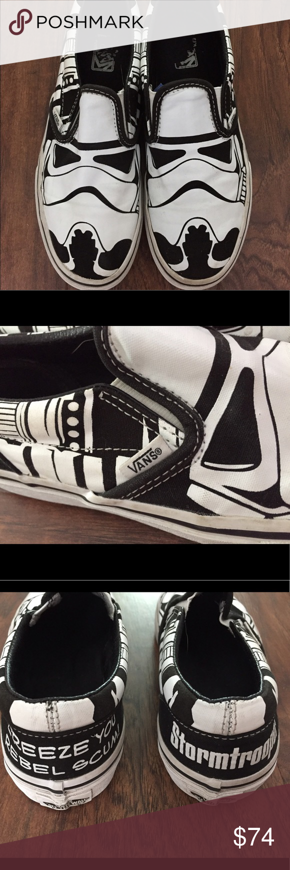 a355d2d973bf65 VANS Limited Edition Star Wars Stormtrooper Shoes Adorable and limited  edition pair of Stormtrooper shoes by